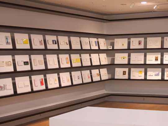 Card catalog: Last year's  nengajo  (New Year's greeting card) exhibition included works by 100 well-known designers.