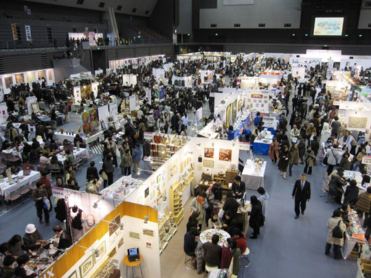 Hobby host: Experts gather at last year's Handcraft Fair.
