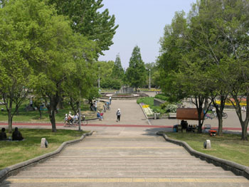 Green mind: Osaka's Kyuhoji Ryokuchi Park will host Earth Day celebrations.