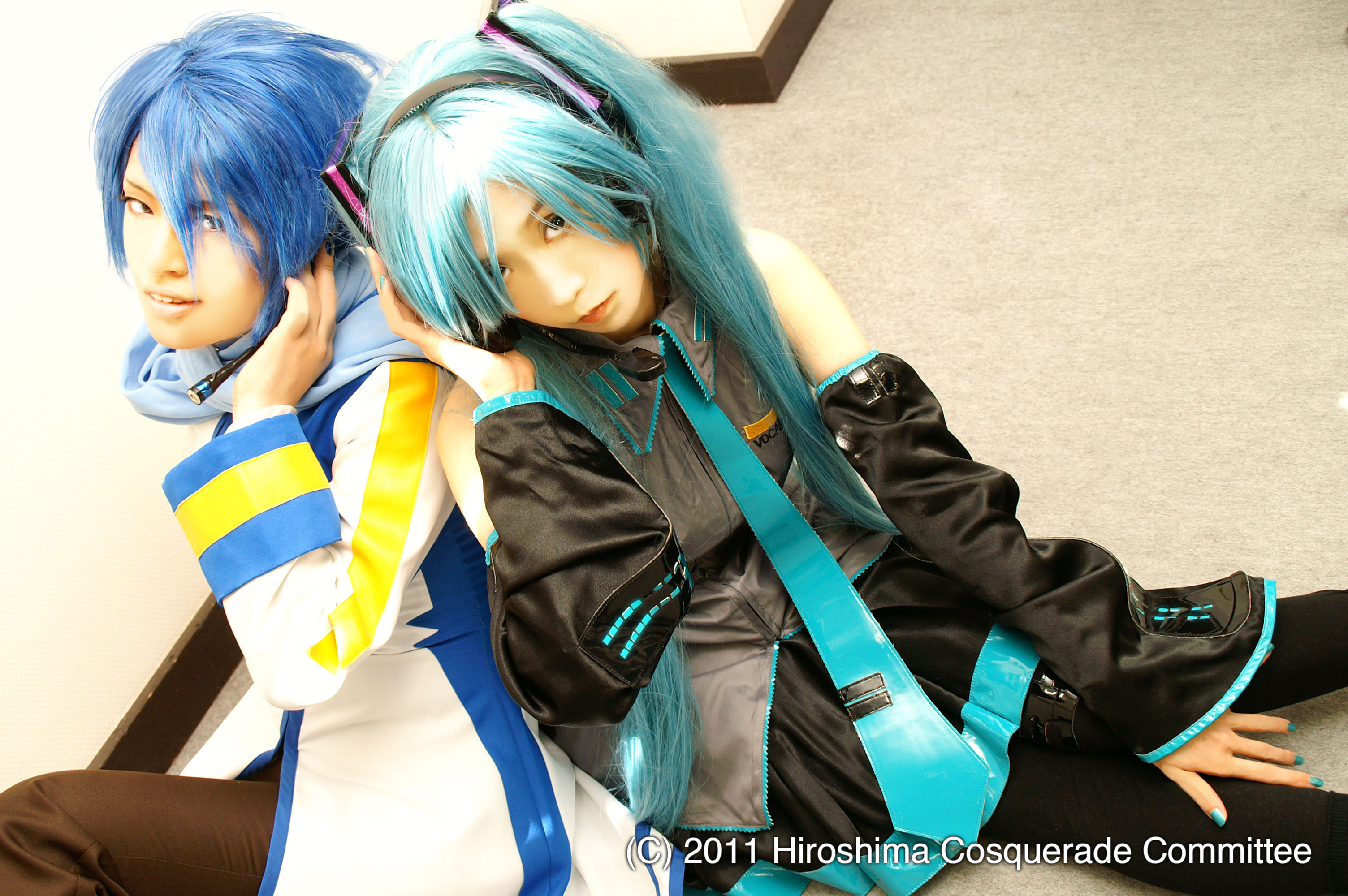 Dress up: Cosplay enthusiasts strike a pose. | HIROSHIMA COSQUERADE COMMITTEE