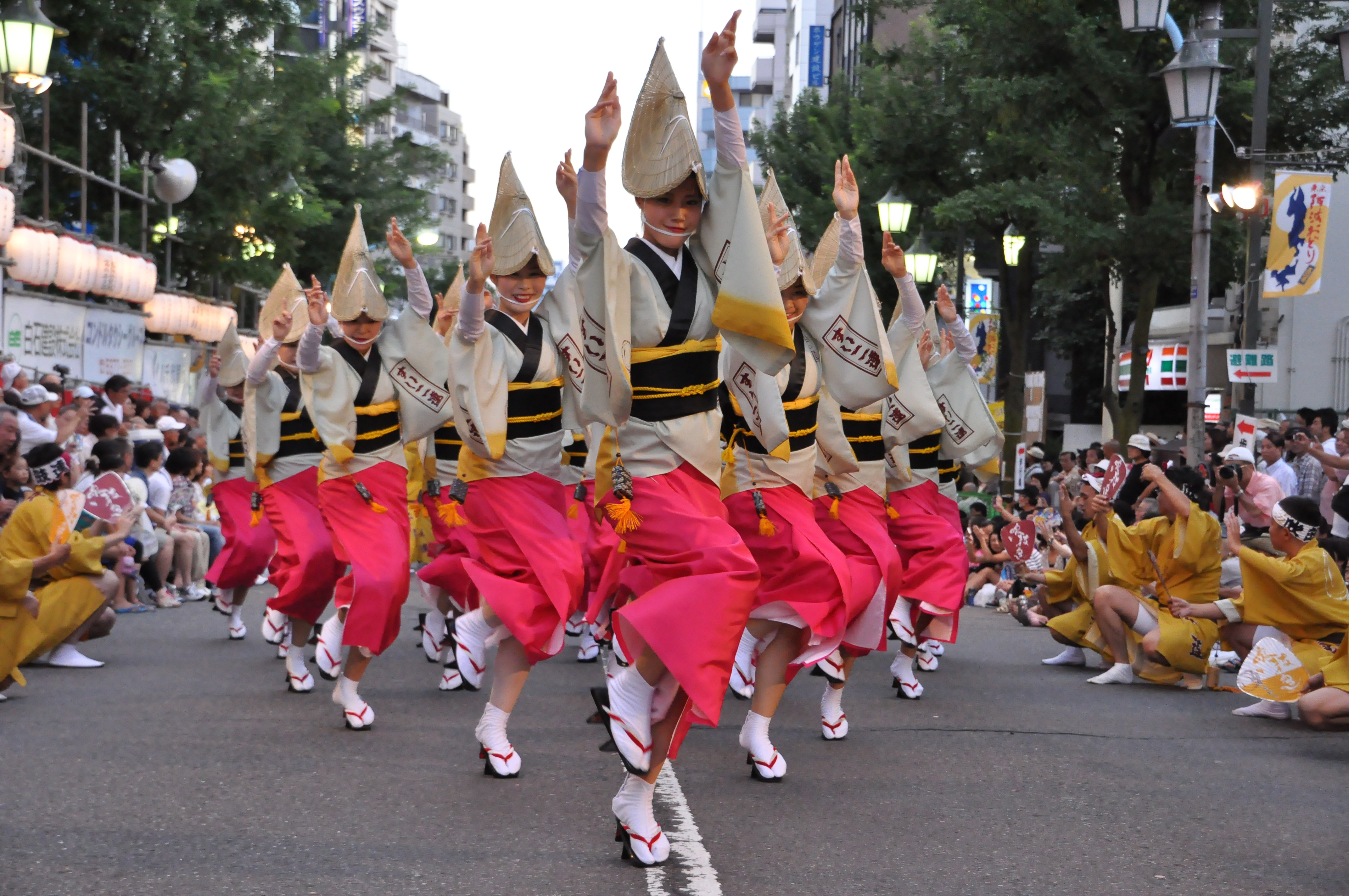 Dancing shoes: Dancers from the Koenji Awaodori Festival hit the streets last year.