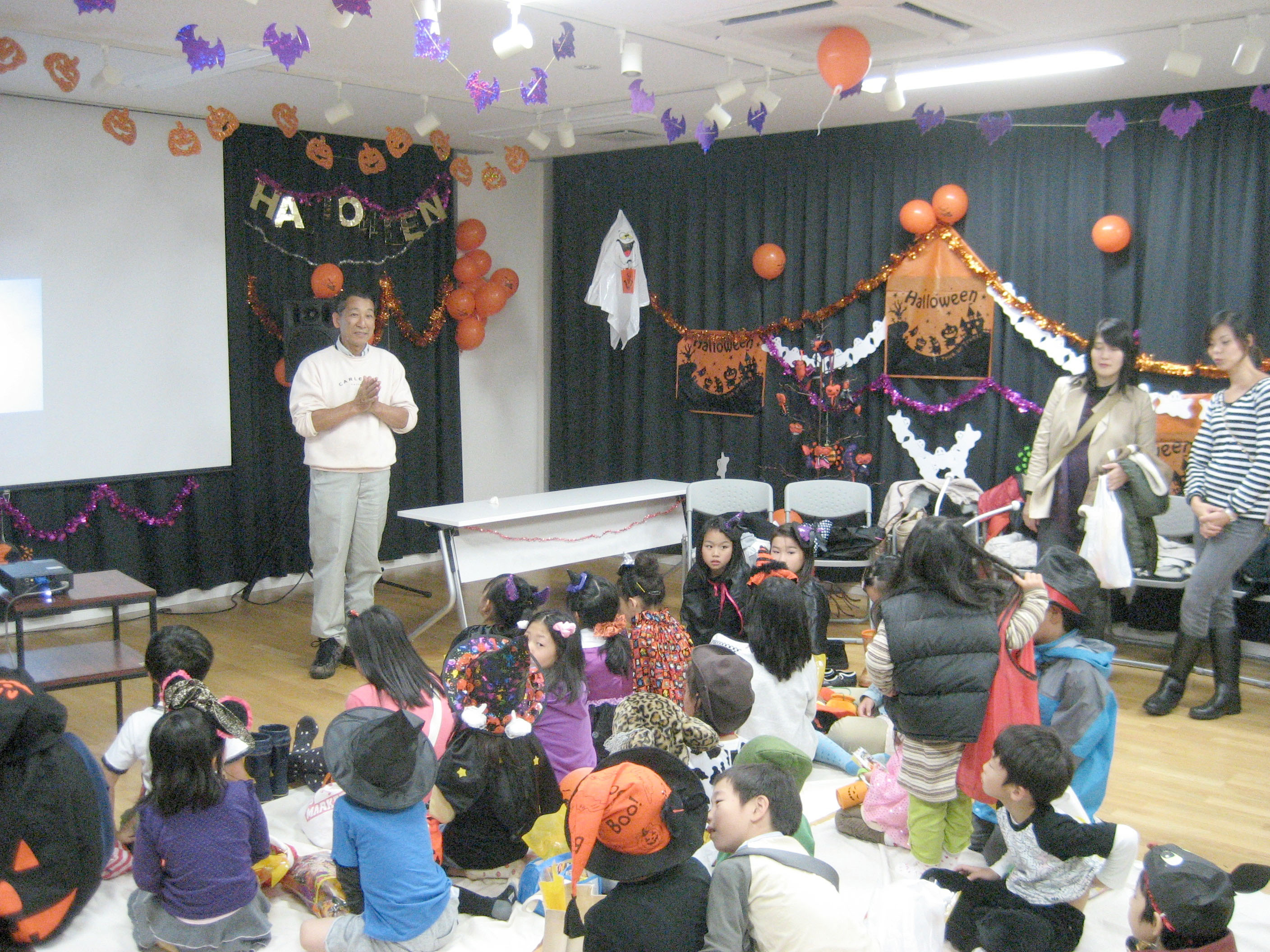 Spooky fun: Kids enjoy Noge Halloween.