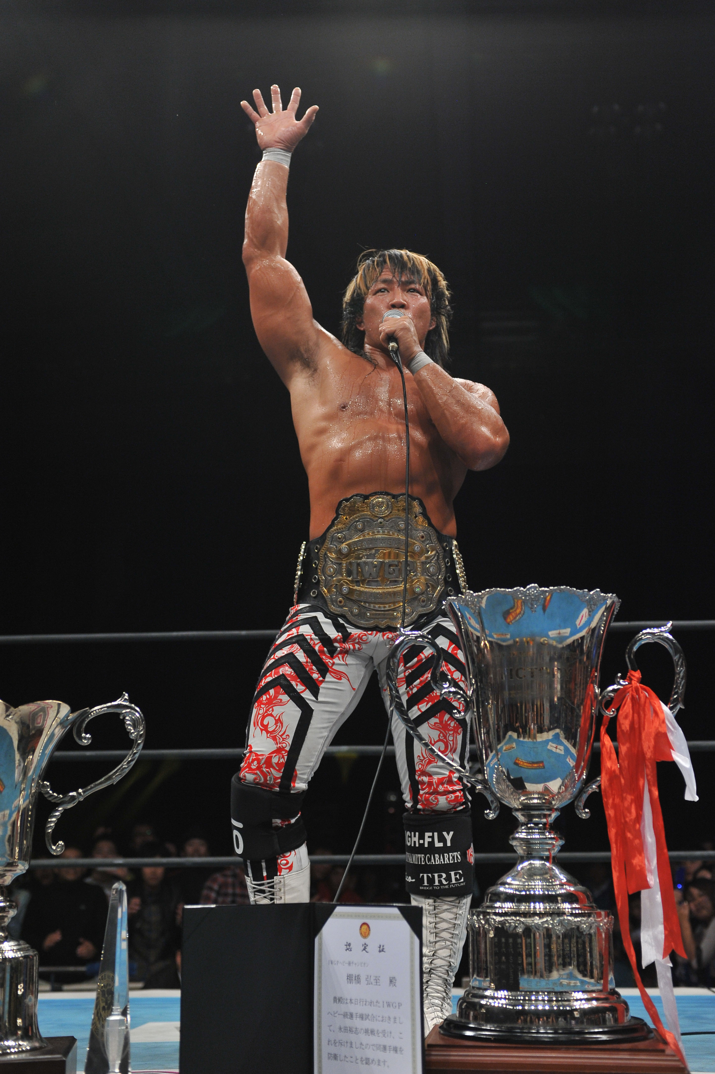 Let's get ready to rumble: Current Heavyweight Champion Hiroshi Tanahashi will fight Minoru Suzuki at next month's 'Wrestle Kingdom 6' event at Tokyo Dome. | © NJPW