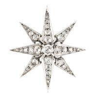 Flashy: A diamond-studded hair pin named 'Sisi's Stars,' owned by Vienna-based jewelry maker Rozet & Fischmeister.