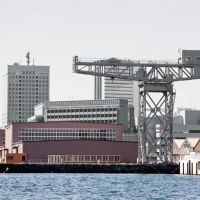 Giving the arts a lift: An open studio will be held at Yokohama's Hammer-head Studio, a converted warehouse that is hosting almost 50 artists and artist groups for the next two years. It takes its name from a hammerhead crane that is situated nearby (top).