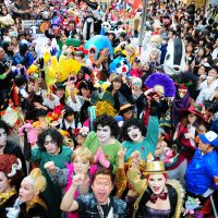 Truly spooktacular: Revelers enjoy a Halloween parade in Kawasaki, Kanagawa Prefecture, last year.