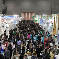 Environmental event: People attend last year's Eco-Products exhibition in Tokyo.