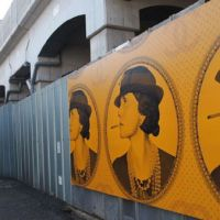 New murals decorate old back streets. | JON MITCHELL PHOTOS