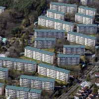 Condos that have been around the block: A 2010 photograph of Tama New Town's Suwa danchi housing development in western Tokyo, which is currently being  re-developed into new condominiums. | KYODO PHOTO