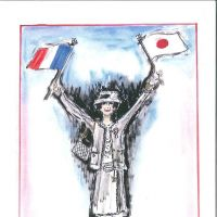 'Chanel et Japon,' a sketch by designer Karl Lagerfeld, will be part of the 'The Little Black Jacket' exhibition, which comes to Tokyo on March 24.