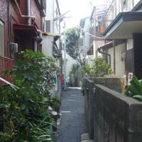 Tight squeeze: Houses, such as these in Minami Senju, Arakawa Ward, are often built so close to each other that the roads in between are too narrow for emergency vehicles such as fire engines. | PHILIP BRASOR