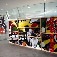 Art statement: Taro Okamoto's motto 'Art is explosion' welcomes shoppers to the Comme des Garcons Aoyama store. | SAMUEL THOMAS