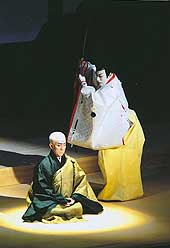 Dogen is confronted by the regent Hojo Tokiyori.