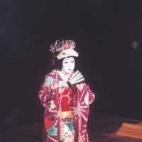 Sakata Tojuro, now performing at Tokyo's Kabuki-za, enters the stage as the priestess Hanako. | COURTESY OF SHOCHIKU COMPANY LTD