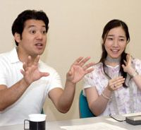 Jutaichiro Hayanagi and Onoe Yukari speak to The Japan Times about their upcoming performances at the National Theater on Aug. 16.. | YOSHIAKI MIURA PHOTO