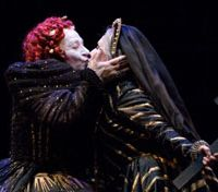 Madcap queen: Lindsay Kemp's Queen Elizabeth I romps with Mary, Queen of Scots | COURTESY OF TATE CORPORATION