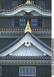 The beautifully restored frontage of Okayama Castle