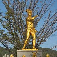 The Peace Memorial Statue in the sun outside Peace Memorial Hall in Nagasaki | TOM FULLER PHOTOS
