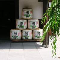 The entrance to the museum at the Kikumasamune sake brewery; a selection of antique bottles inside; a statue of a Roman centurion welcomes you aboard the Villaggio Italia cruise boat.