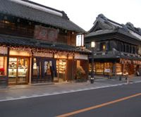 Shops line Karazukuri Street in Kawagoe | YUKARI PRATT PHOTO