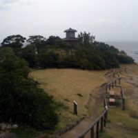 A replica of the lighthouse on Cape Tomyodo