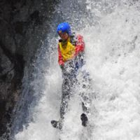 Speed racer: An urban adventurer drops from Inaritaki Waterfall. | JASON JENKINS PHOTOS