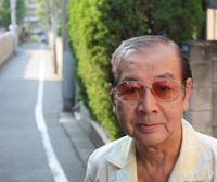 Spook central: Fourth-generation Mita resident Shigeharu Hayashi appears at the summit of Yureizaka; Gyokuho-ji's Kesho Jizo.
