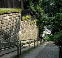 Munatsuki-zaka (Chest-stabbing Slope) beside the Kanda River