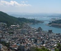 Onomichi rests in a valley between Senkoji Park and the Seto Inland Sea