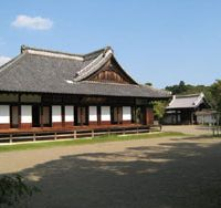 Deskwork for warriors: The beautifully restored Kodokan — pictured is the main hall — was where young samurai received higher education.