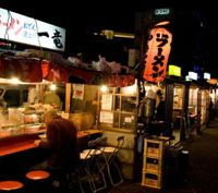 Chewing the fat: Yatai specializing in ramen fill up quickly in Fukuoka.