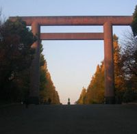 The First Torii of Yasukuni Shrine.