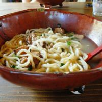 Square meal: Okinawan soba at Cafe Ishigufu on the northeastern coast.