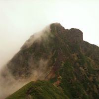 The saddle leading to Mount Akadake.