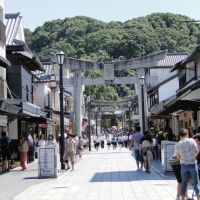 The main street of Dazaifu.