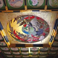 Artist Kenji Akahira works in oils; while the phoenix-emblazoned ceiling of Oinari Shrine takes the breath away.