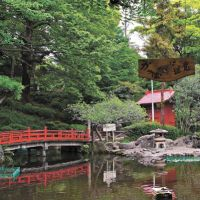 Still waters: Sudo Park's pond — with a kappa (water-sprite) warning sign. | KIT NAGAMURA PHOTOS
