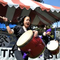 Skin heads: Performers at last year's festival included Okinawan drum troupe Yuaikai Ryukyu Taiko (above) and Vancouver butoh dancer Jay Hirabayashi.