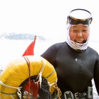 Free-diving femme: Reiko Nomura, 80, has been diving most of her life. The all-female ama divers of the Ise-Shima region in Mie Prefecture descend without breathing apparatus, instead simply holding their breath as they plunder the briny deep for abalone and other treats, which they sometimes cook up for visitors to their traditional huts. | MANDY BARTOK PHOTOS