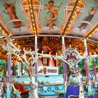 Riding high: Opened in 1926, inner-city amusement park Toshimaen boasts ornate rides from decades past, including the historic Carousel El Dorado.