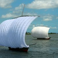 Sail through time with hobikisen on Lake Kasumigaura