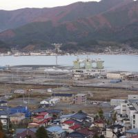 On the mend: The tsunami-ravaged port city of Ofunato, Iwate Prefecture, as it is today. | TOMOKO OTAKE PHOTOS