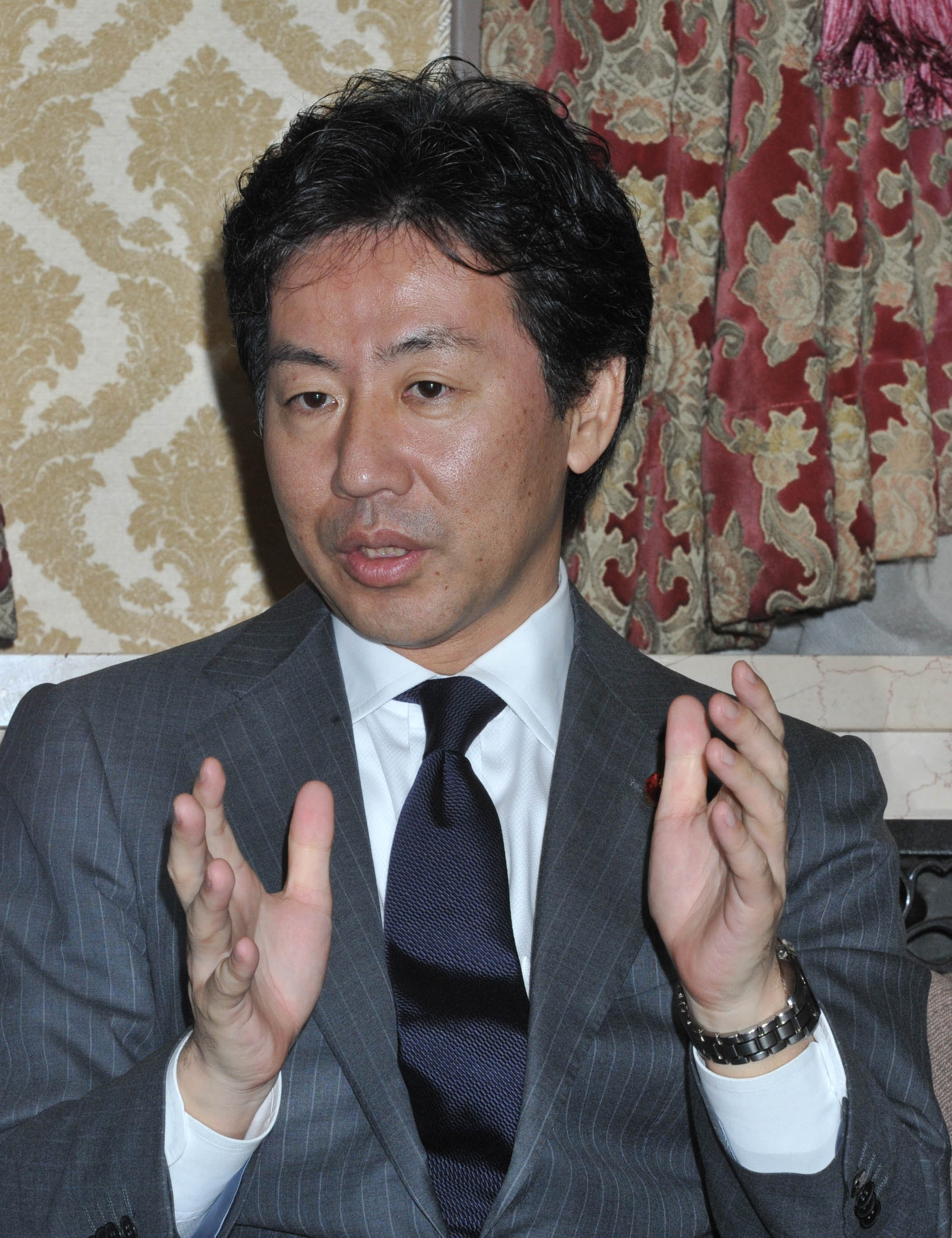 Azumi enters fray with tax-hike talk