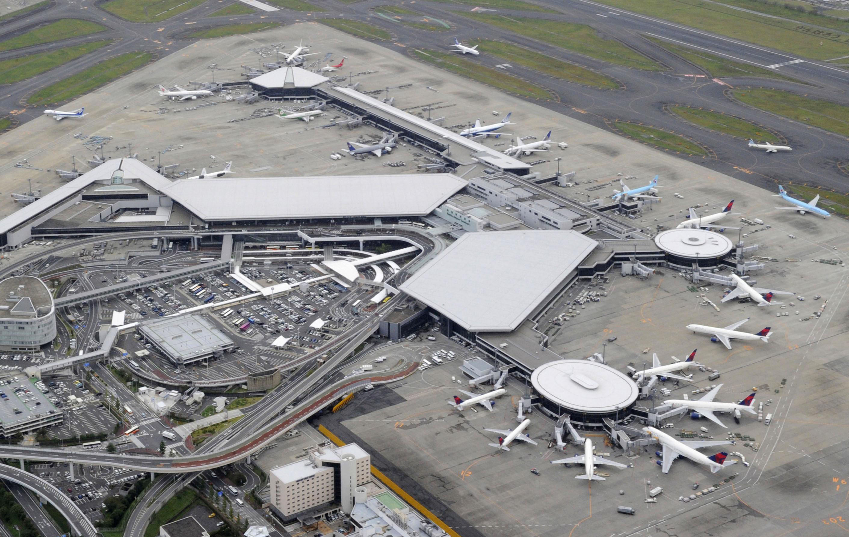 Sky-cam: Narita airport is photographed from above. | KYODO