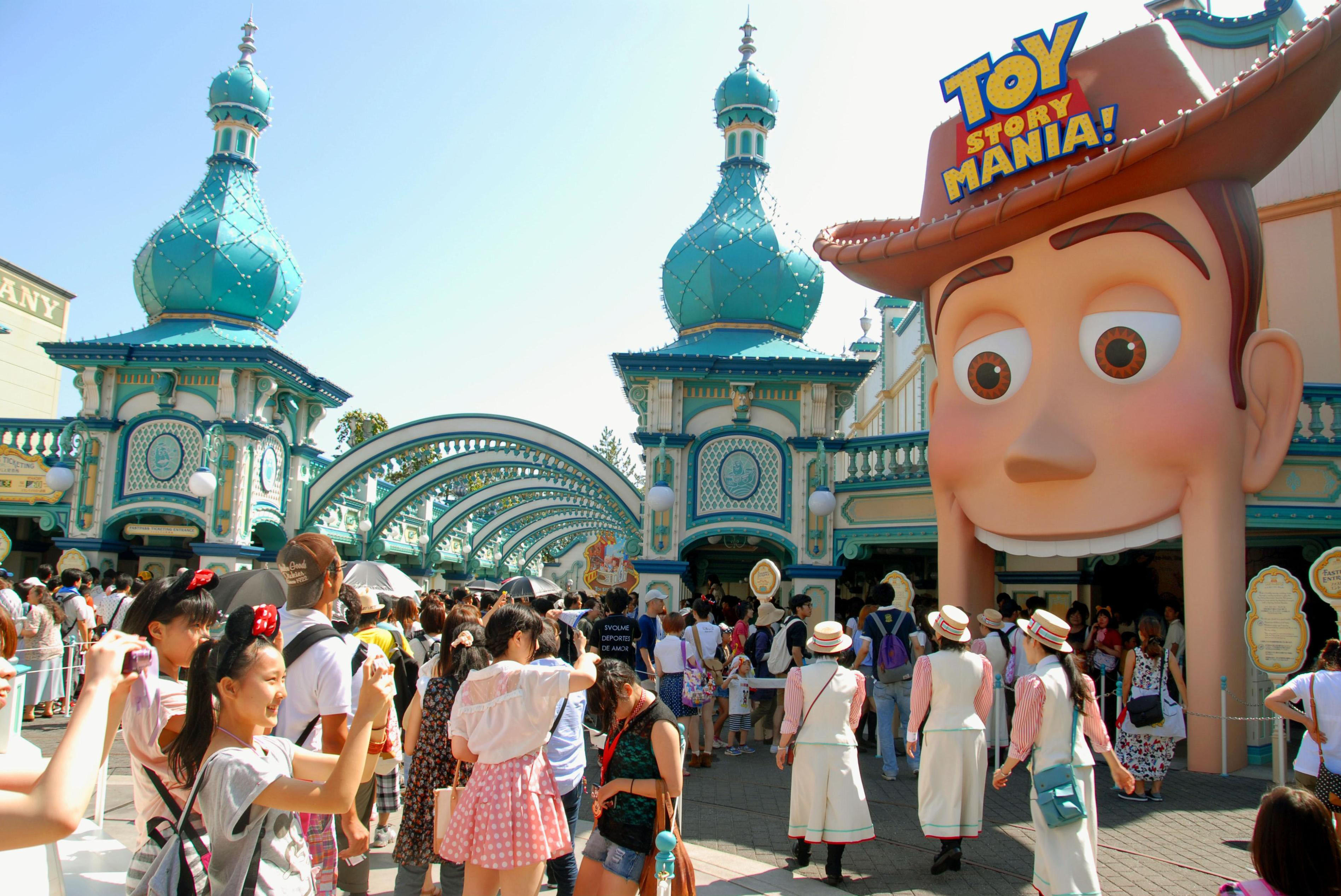Playtime: The new 3-D attraction Toy Story Mania! opens Monday at Tokyo DisneySea in Urayasu, Chiba Prefecture. | KYODO