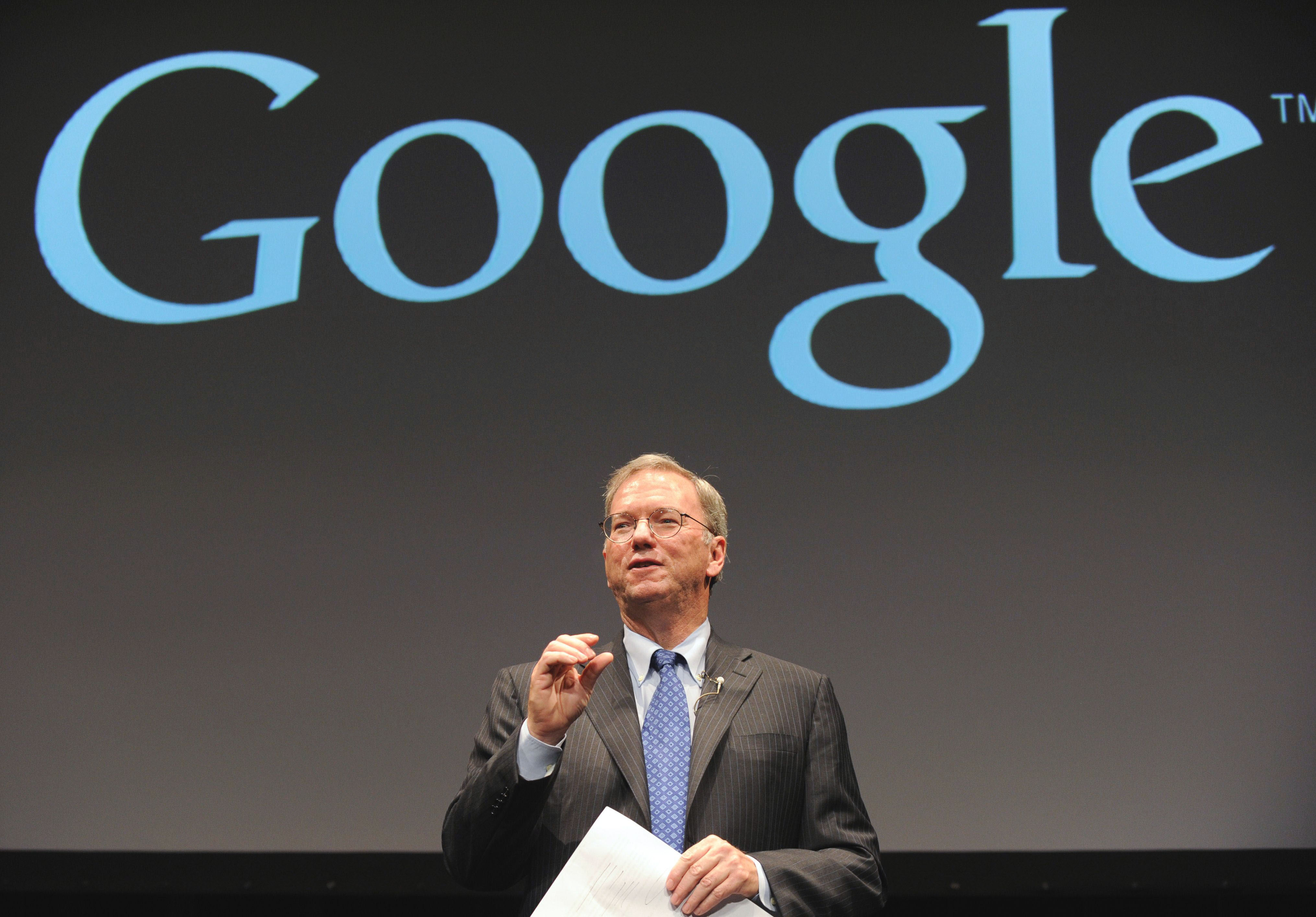 Now on the shelves: Google Inc. Executive Chairman Eric Schmidt promotes the Nexus 7 tablet device at a launch ceremony in  Tokyo on  Tuesday. | AFP-JIJI