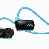 'Swimman': Sony Corp.'s Walkman W headset, which will debut next month, can be used when swimming. | KYODO