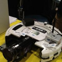 Robocam: Hiroshi Takai combined a Roomba vacuum cleaner and a video camera to get smooth low-angle shots.