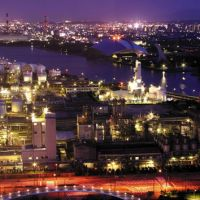 Powered up: Night factory views of Yokkaichi, Mie Prefecture, and Kawasaki (below) are becoming popular tourist attractions. | COURTESY OF YOKKAICHI, KAWASAKI/KYODO
