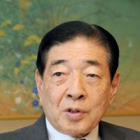 Beyond politics: Tadateru Konoe, president of the Japanese Red Cross Society, is interviewed March 4 at the society's head office in Minato Ward, Tokyo. | SATOKO KAWASAKI PHOTO